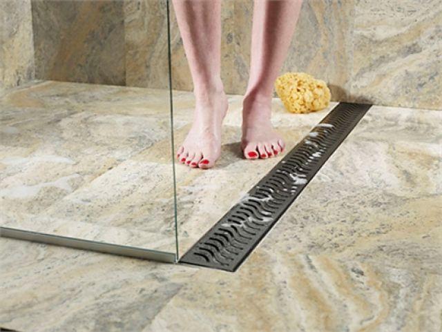 Drainage floor tiles